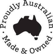 logo proudly australian made and owned